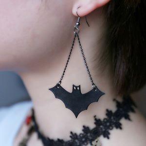 Jewelry - NWT Bat Earrings